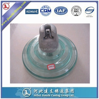 70KN standard disc suspension glass insulator