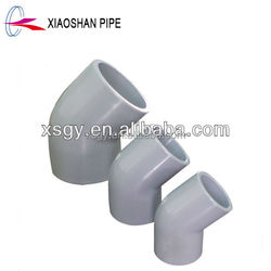astm pvc plastic water pipe fittings 45 degree elbow 2''