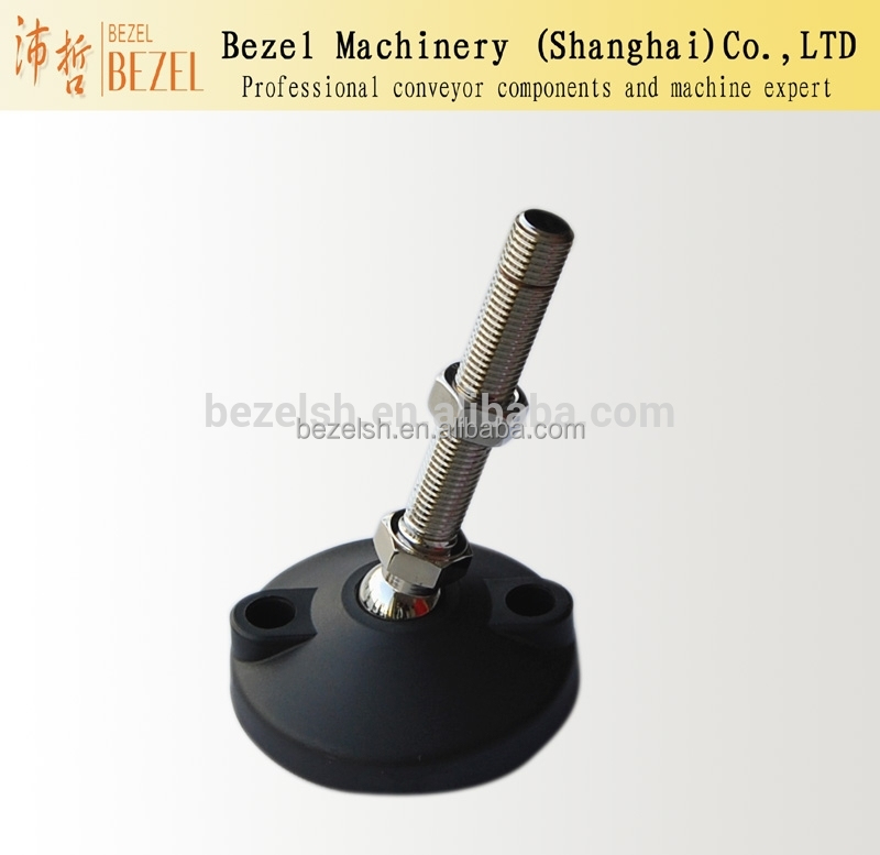 WX100mm pad adjustable articulated feet packing machine filling machine conveyor feet stainless steel screw