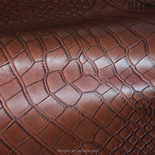 Hot sale crocodile print embossed synthetic leather used for Bags/Shoes/Belt