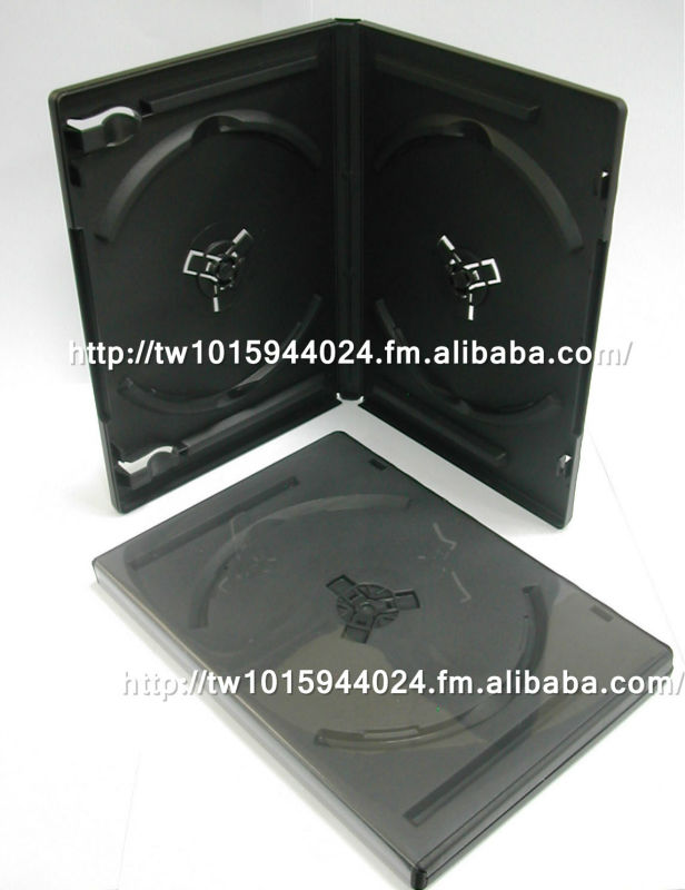 14mm DVD case black / clear