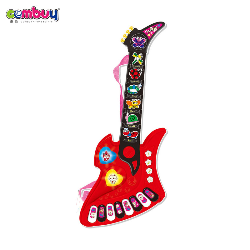 Hotselling kids musical instrument plastic mini bass guitar