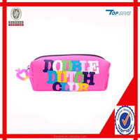 Zipper pencil case pink