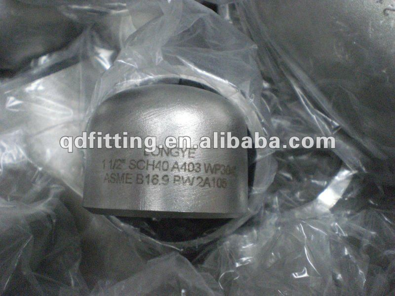 pipe fitting stainless steel DIN2617 butt weld end cap