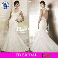 XL715 cap sleeve made to order 2014 lace mermaid open back ghana wedding dresses