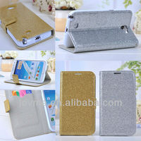 Sparkling PU Wallet Flip case cover for Samsung Galaxy NOTE2 II N7100