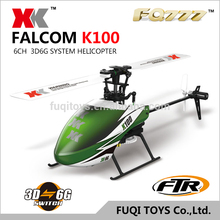 XK K100 Flybaless 6CH 3D 6G System rc helicopter FTR long fly time