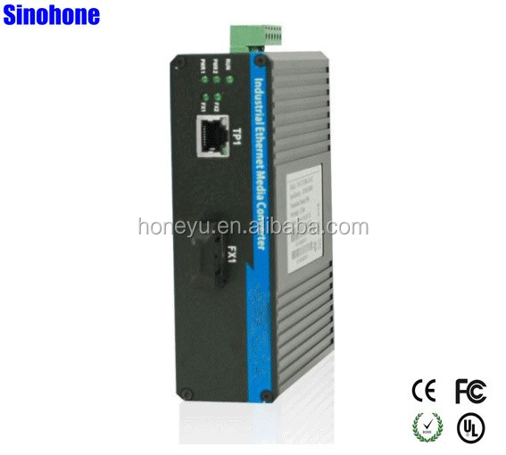 1000M 1 RJ45 1 SFP Industrial Ethernet Fiber Media Converter