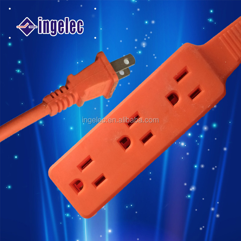 125V 155feet US style home outdoor USE orange flat extension power cord 110