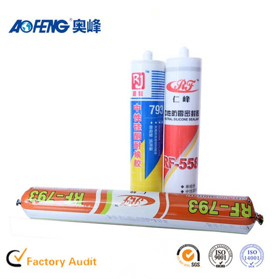 China Famous Brand Aofeng Acid Transparent Glass Glue Silicone Adhesive Sealant