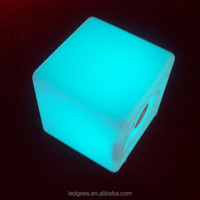 LED CUBE color changing rechargable led cube,plastic cube building block