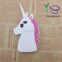 charming white horse head Custom silicone 3D Phone Case