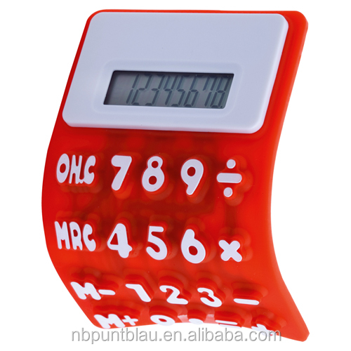 silicone calculator with 8 digits
