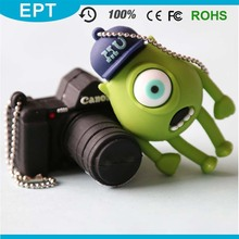 Customized high quality pvc usb flash drive, 3D camera shaped pvc usb