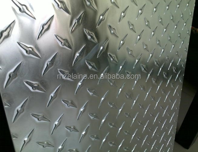 Aluminum Alloy Tread Diamond Checker Plate Sheet For Building Stairs Floor And Trim Strip