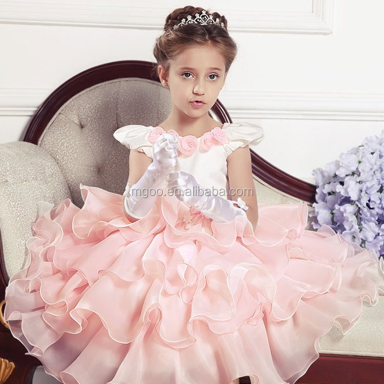 2016 New Desgin Baby Dresses Special Occasions Winter Boutique Kid Frock Design for Baby Girl XJL25154