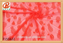 Manufacturer new design cotton nylon flowers stock cheap swiss voile thailand lace fabrics ,bead net fabric