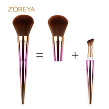 Fashion unique design makeup brush professional Synthetic hair material lovely design make up cosmetics