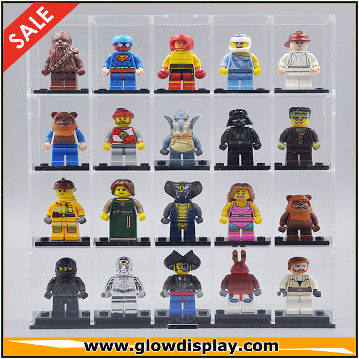 China wholesale acrylic Minifigure Lego display case