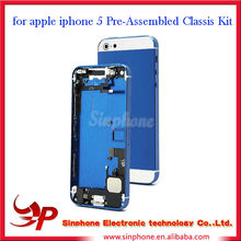 Pre-Assembled Chassis Kit For Apple iPhone 5 Back Cover Housing
