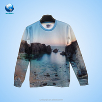 BIG WORLD 2015 new arrival 3d Sweatershirt/ Wholesale t-shirt /3d Pullover Long Sleeve Round Neck t- shirt