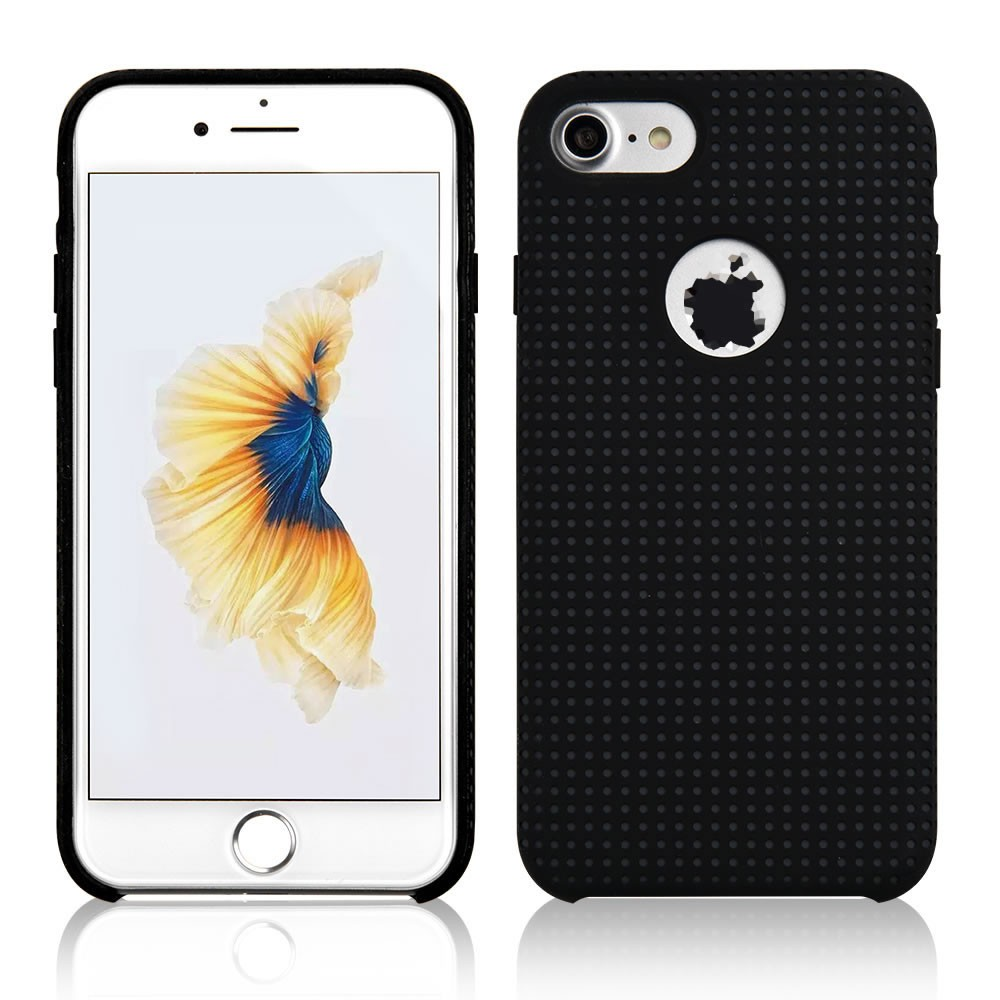 C&T Mesh Liquid Silicone Shockproof Anti-slip Protective Cover for Apple iPhone 7