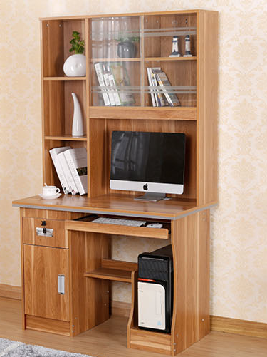 bookshelf modern design with computer desk