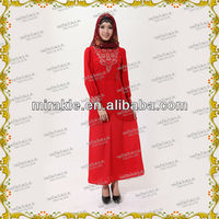 MF18045 New design islamic abaya fashion Baju kurung