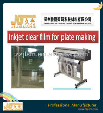 Fast dry Clear transparent inkjet PET film for plate making