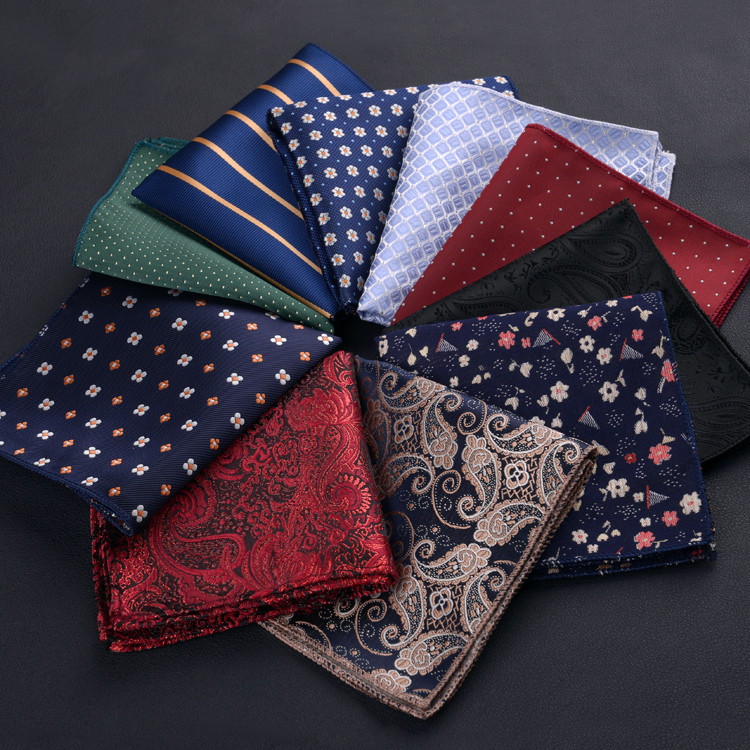 Free Samples Custom Print 100% Silk Hand Hem Pocket Square scarf For Men