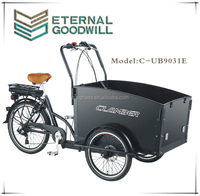 Cargobike tricycle for children CE Euro/ two front cargo tricycle 36V 9Ah family electric cargo bike/used cargo tricycle UB9031E