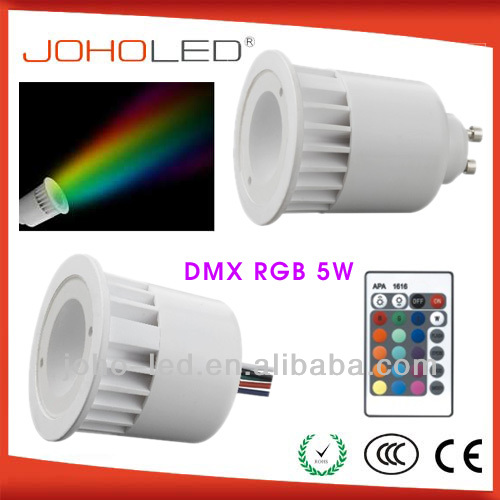 High quality private model with synchronous and memory function rgb led spotlight/e27 remote control 16 color rgb led bulb light