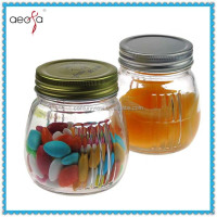 Clear Or Colored Cheap Glass Handle Mason Jars With Caps 16 oz Mason Jars Wholesale