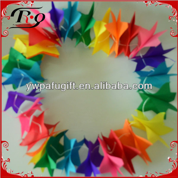 2014 star design party paper garlands for decoration