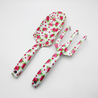Floral printing mini gardening shovel gift pretty garden tool for ladies