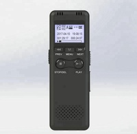 Black Professional 8GB LED Digital Voice Recorder