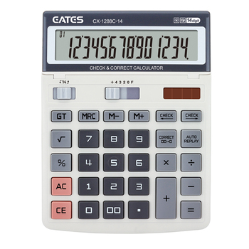 Adjustable angle 2 way power 14 digit calculator CX-1288C-14