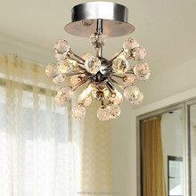 Modern Ceiling Light Fixture K9 Crystal Chandelier with 6 Mini Style Chandeliers RT7091