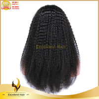 hot selling brazilian #1b afro human hair full lace natural wave wig for black women 130% density top quality