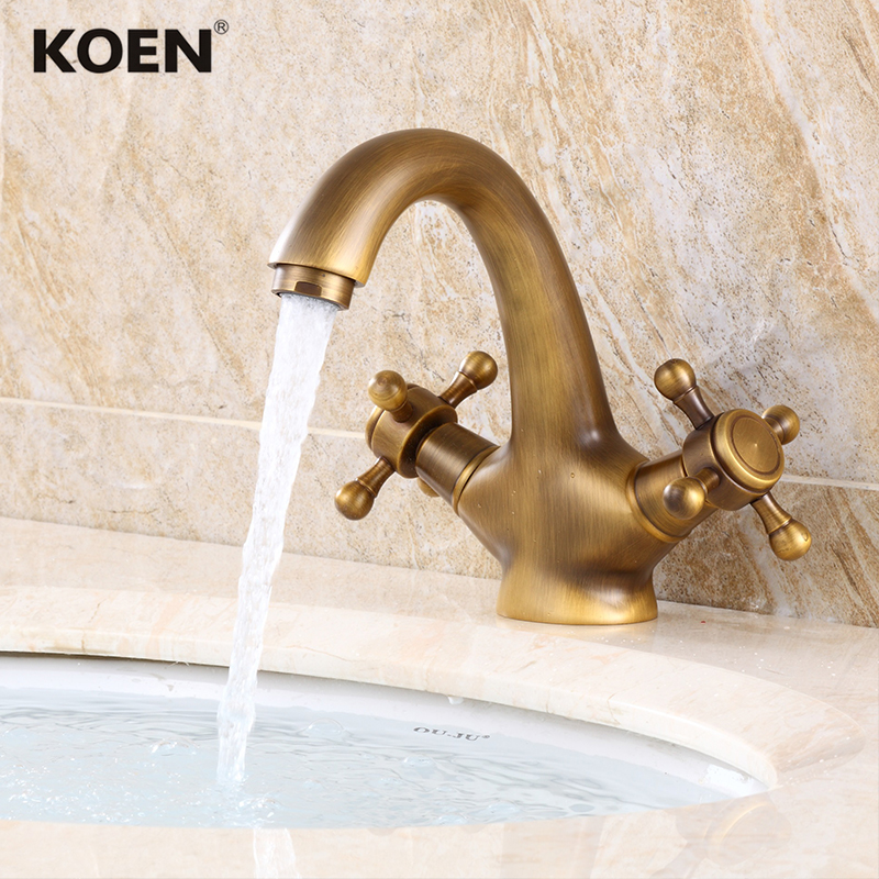 Bronzed Brass Bathroom Basin Mixer Faucet Tap Sanitary Supplier