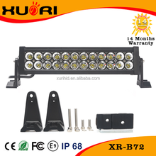 High Power waterproof toyota forklift lights 72 watt led light bar for car with ROHS CE FCC