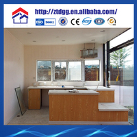 Heat and sound insulation pre-made container house