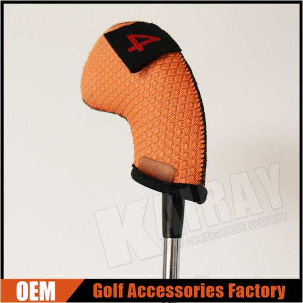 Neoprene golf iron head cover, bright color golf head cover for summer