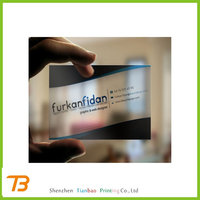 Custom logo printed hard plastic business cards cheap