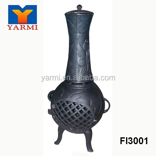 OUTDOOR CAST IRON CHIMINEA