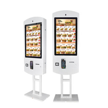 touch screen self service interactive capacitive printing photo booth kiosk for mall