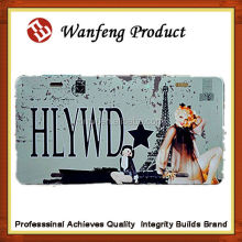 european commomly use car license plate, tin license plate film, aluminum car number plates