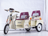 3 Wheel cargo and passenger use electric tricycle scooter with folding seat