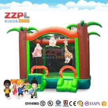 ZZPL Welcome Zoo jumping castle Funny animal bounce house Best quality outdoor inflatable bouncer