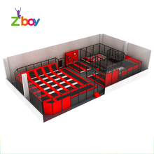 Used indoor cheap rectangle fitness equipment trampolines floor for sale